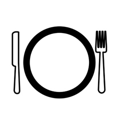 dish and cutlery isolated icon vector image