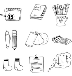 Doodle element school education vector