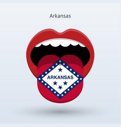 Electoral vote arkansas abstract mouth vector