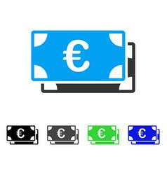 Euro bills flat icon vector