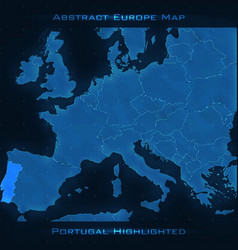 europe abstract map portugal vector image