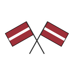 Flag of latvia stylization of national banner vector