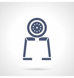 Gauge tool glyph style icon vector image