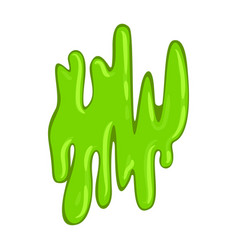 Green slimy slippery slime sticky wet organism vector