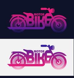 Halftone motorbike vector