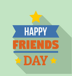 holiday friend day logo flat style vector image