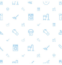 Housework icons pattern seamless white background vector