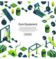 isometric gym background vector image