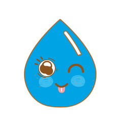 Kawaii nice happy drop water vector