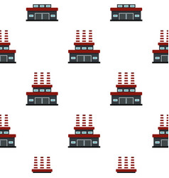 Large oil refinery pattern flat vector