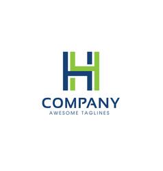 letter h logo modern color vector image