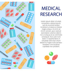 Medical research banner vector