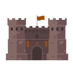 Medieval stronghold - old fortress towers vector