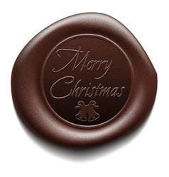 Merry christmas wafer sealing wax vector