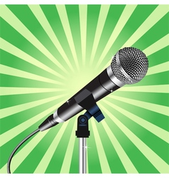 Microphone cord Rays zoom 3 vector