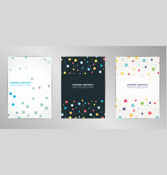 modern molecular cover design background set a4 vector image