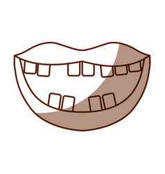 Mouth with bad teeth vector