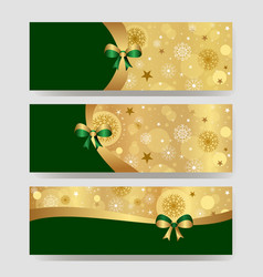new year or christmas banner with space for copy vector image