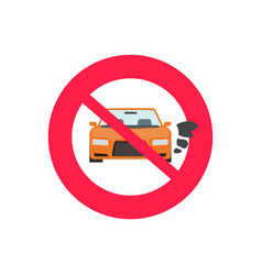 no car or vehicle engine running sign vector image