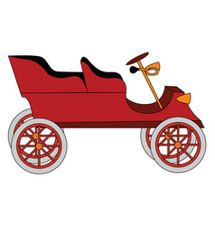 old red car on white background vector image