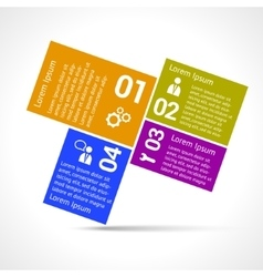 One two three four options infographic design vector