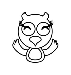 Owl animal toy outline vector