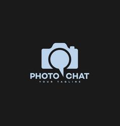 photo chat logo vector image