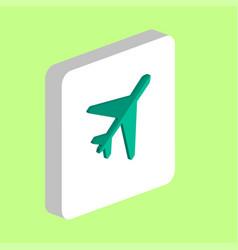 Plane computer symbol vector