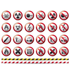 Prohibition Danger sign vector