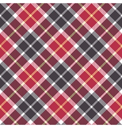 Red and gray check plaid seamless pattern vector