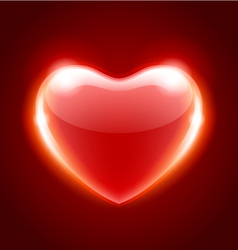 Red heart shape vector