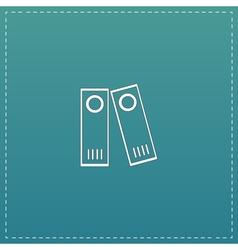 Row binders icon vector