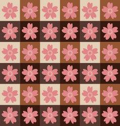 Sakura tiles patternsakura pattern background vector image