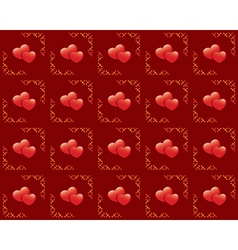 Seamless red texture with hearts vector