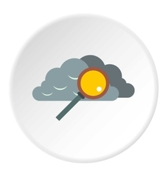 Search files in cloud storage icon flat style vector