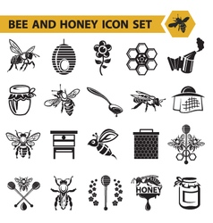 Set of honey icons vector
