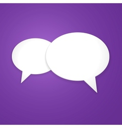 Speech Bubble Background Icon vector image