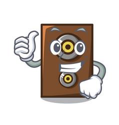 Thumbs up speaker character cartoon style vector