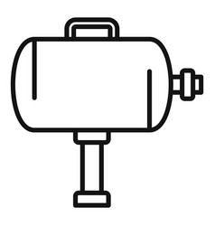 Tire fitting air compressor icon outline style vector