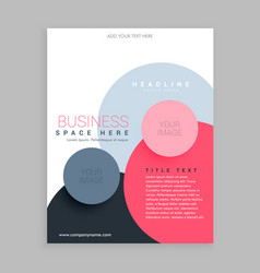 Trendy circles pink brochure flyer design vector