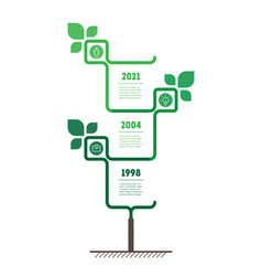 Vertical green infographics or timeline with 3 vector