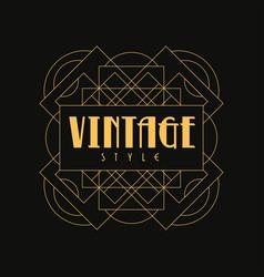 vintage style logo design art deco element in vector image