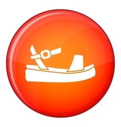 Women sandale icon flat style vector image