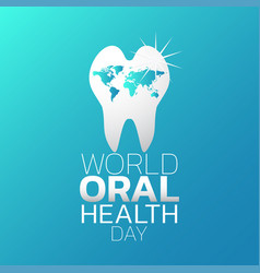 world oral health day logo icon design vector image