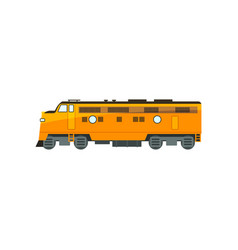 yellow diesel railway great power locomotive vector image