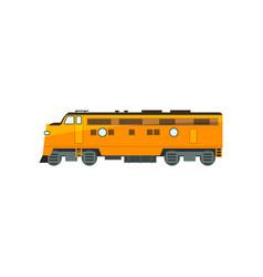 Yellow diesel railway great power locomotive vector