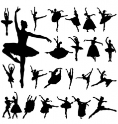 ballerina silhouettes vector image vector image