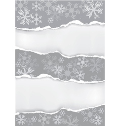Grey grunge christmas torn paper background vector image vector image