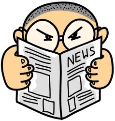 Kid Read News vector image