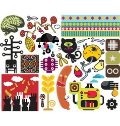 Mix of different images vol50 vector image